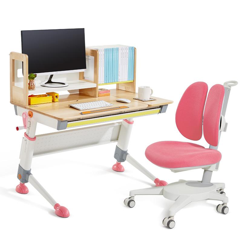 【中国好设计】2平米骑士儿童学习桌学生写字书桌套装天然实木