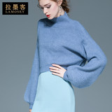 Design sweater women winter short-sleeved long-sleeved turtleneck pullover loose loose lantern sleeve top