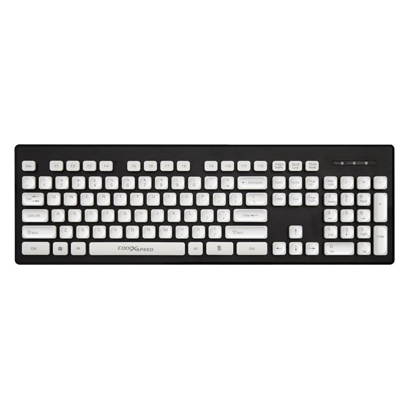 悬浮巧克力键盘笔记本外接电脑有线无线办公专用女生可爱粉色打字