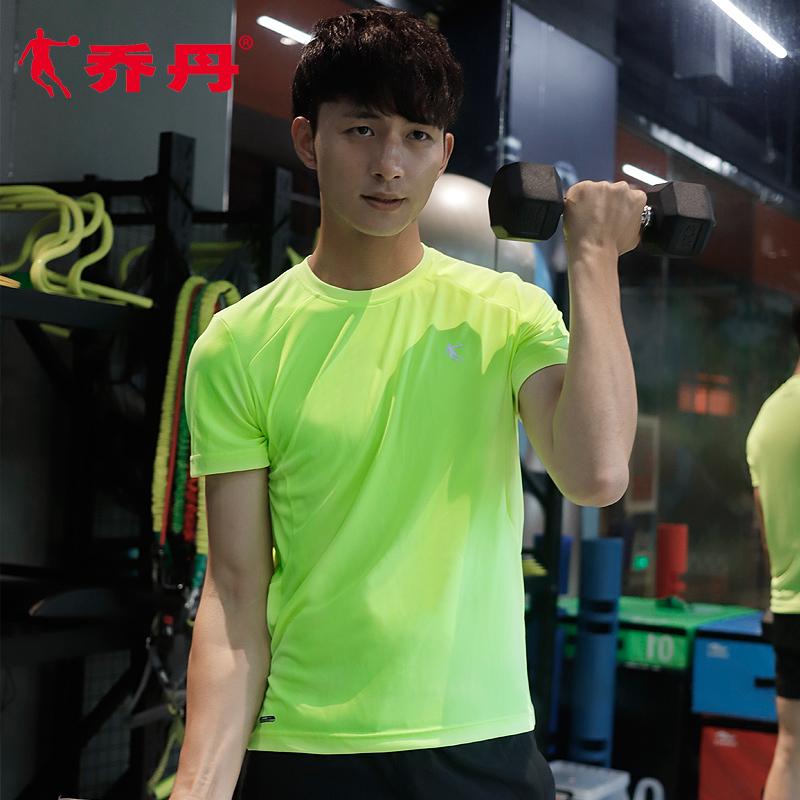乔丹短袖t恤男2019夏季新款速干透气半袖白色男士健身休闲运动服