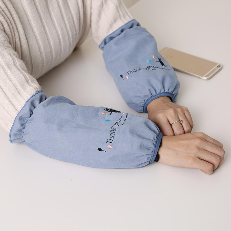 餐厅长款袖套女办公套袖防污成人韩版护袖厨房学生日用短款袖头