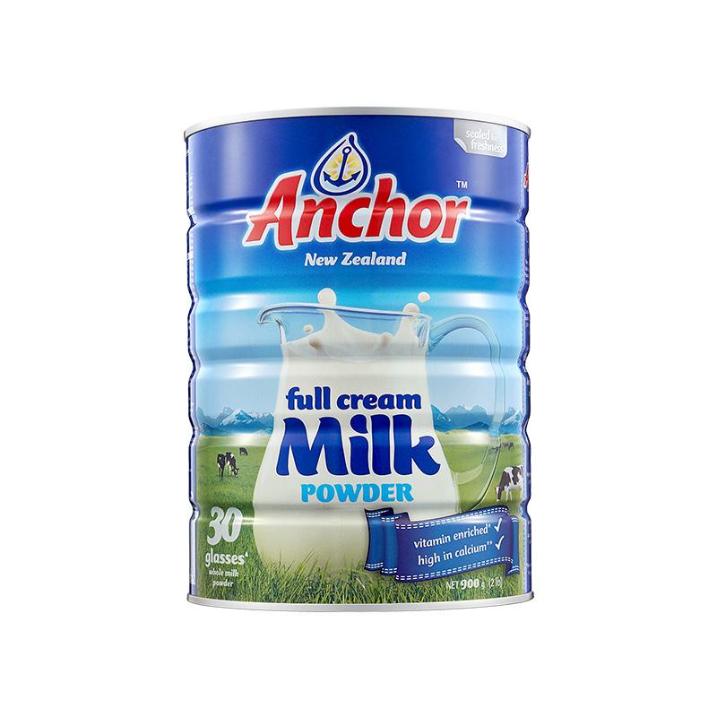 【已折】安佳全脂奶粉900G新西兰成人奶粉罐装青少年奶粉20.7月