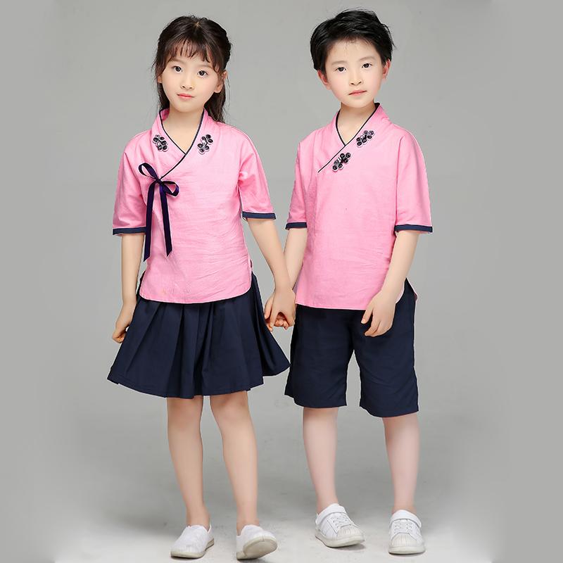 六一儿童演出服小学生朗诵合唱服民国风五四青年服装汉服男童女童