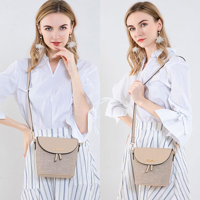 小包包女2020新款潮夏季时尚简约网红百搭单肩水桶包女斜挎包减龄
