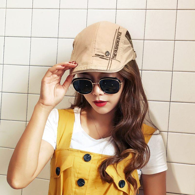 帽子男韓版貝雷帽報童帽前進帽太陽帽防曬遮陽帽春夏帽子女鴨舌帽