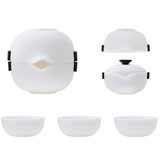 White porcelain Quik Cup Travel Tea Set portable package cups carry a pot cup teapot custom logo