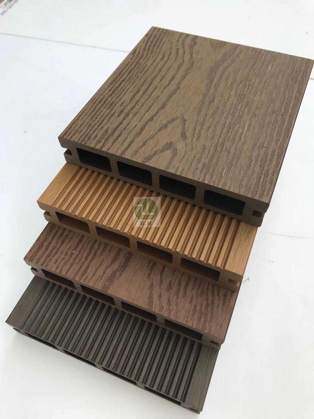 环林塑木地板塑木长条地板露台木塑户外地板塑木板材140*25空心