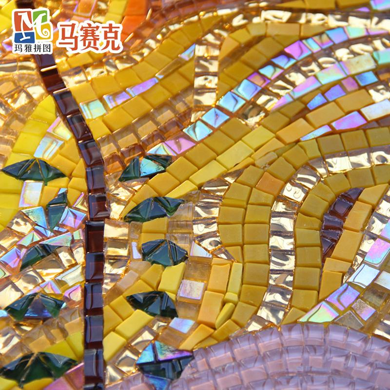 克里姆特名画油画玻璃马赛克艺术拼图抽象睡美人餐厅背景墙壁画