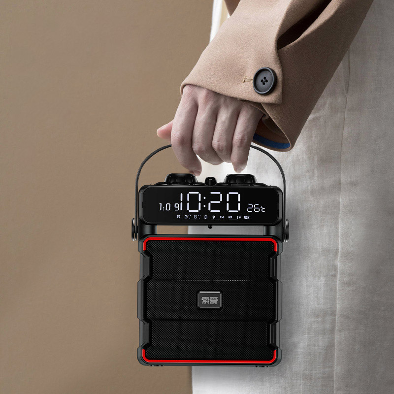 环绕超重低音炮小型家用播放器插卡收音机 3d 歌小影响 K 大音量蓝牙音箱广场舞音响户外无线手提便携式 q25 索爱