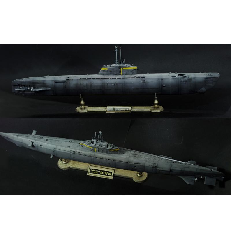 小号手拼装核潜艇模型1/144德国U型2518潜艇带电动仿真军事潜水艇