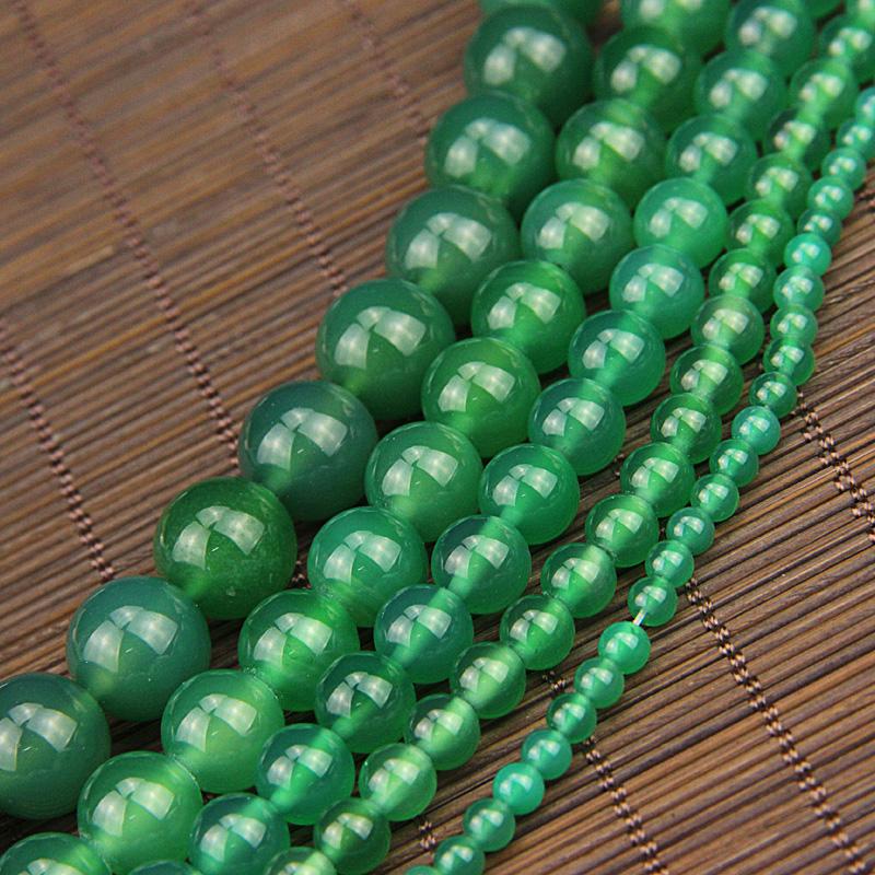绿玛瑙散珠子diy手工项链珠手串珠手链珠宝首饰品配珠天然水晶珠