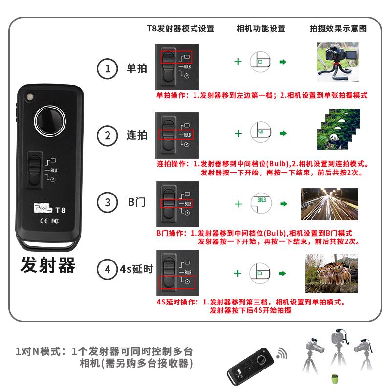 品色快门线5D4佳能6D2单反200D2相机5D3 80D 70D 60D M6II无线遥控器5D2 800D 700D 750D EOS R RP M6 M5 77D