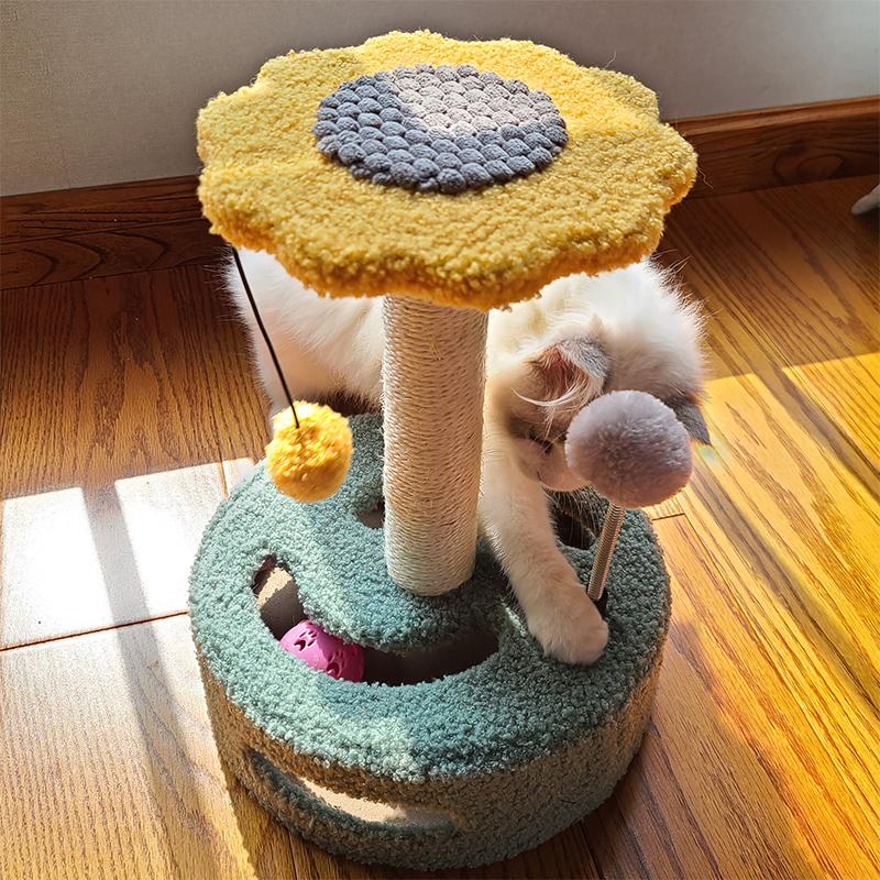 猫爬架猫架猫窝小型猫树爬柱一体剑麻玩具抓板猫抓柱架子猫咪用品