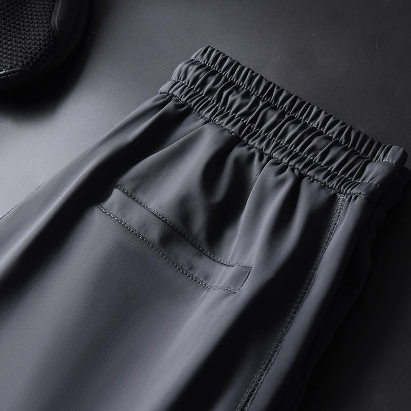 冰丝裤男士夏季超薄款束脚运动裤
