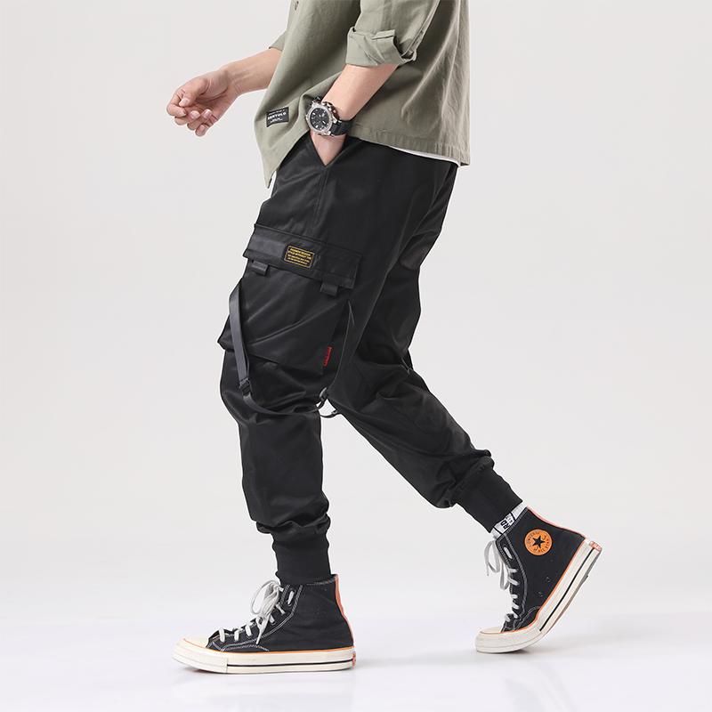 伞兵工装裤男潮牌迷彩束脚裤机能风隐蔽者裤子男士宽松休闲嘻哈裤