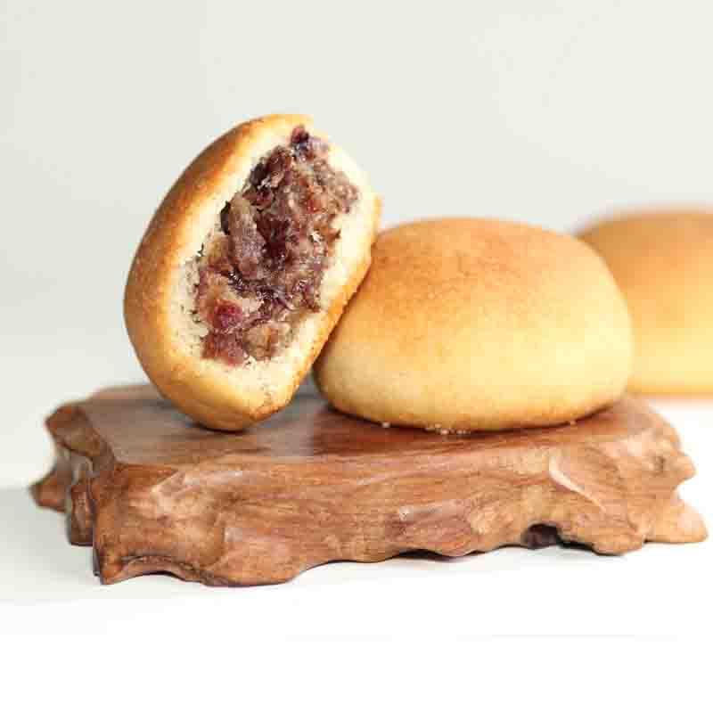 嘉华月饼云腿饼云南宣威火腿饼酥皮荞麦饼400g玫瑰洗沙玫瑰茉莉饼