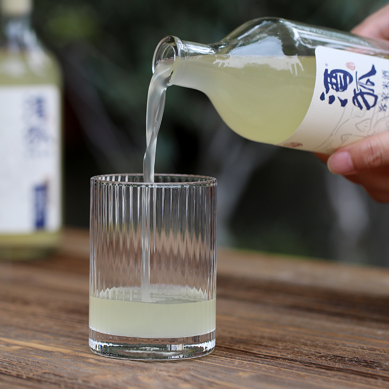 酒狐米酒山糯甜米酒 客家手工原浆酒酿 农家自酿 低度甜酒450ML