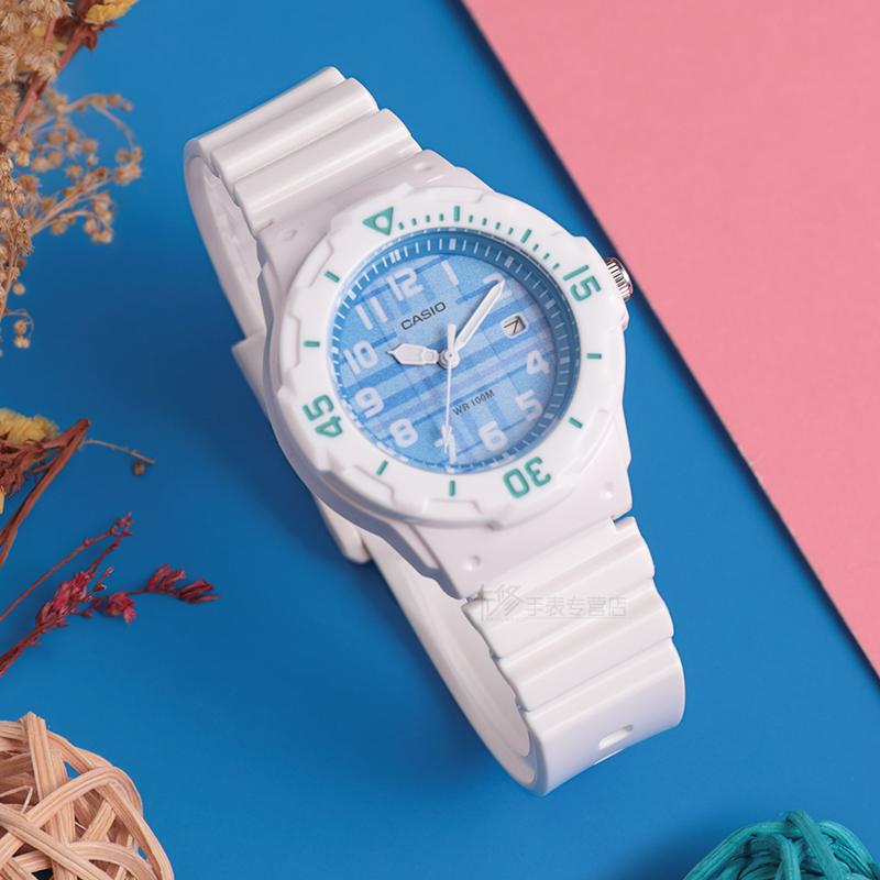 初中女生手表品牌 卡西欧学生女孩便宜运动女表防水夜光LRW-200H