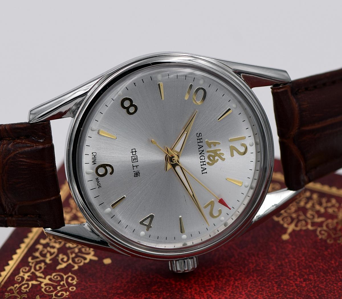 8120 国产手表 上链手动机械手表大数字 男士库存超薄夜光复古腕表