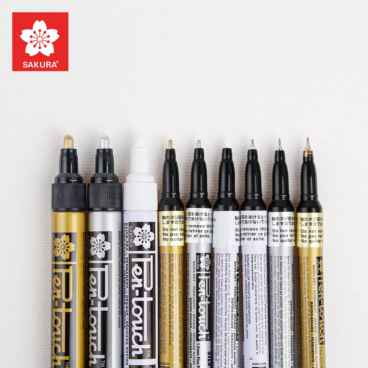 包邮日本樱花sakura 油漆笔高光笔2.0mm签名笔明星签到笔白色金色