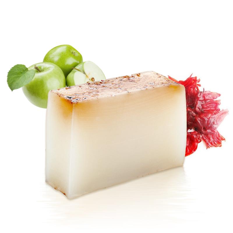 蘋果洛神花精油手工皂  正品包郵 抗氧化 百匡 臺灣進口 嫩膚補水
