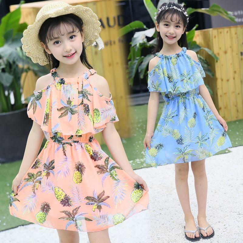 童装女童2019夏装新款洋气雪纺吊带儿童连衣裙女孩韩版公主裙纱裙