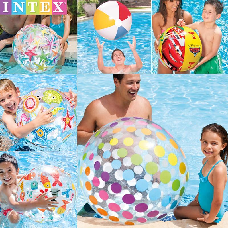 寶寶戲水沙灘球游泳池泡溫泉玩具大號充氣球迪士尼兒童小號早教球