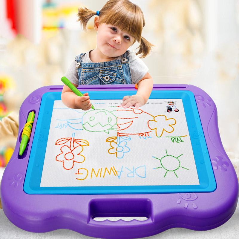 儿童画画板磁性写字板宝宝婴儿玩具1-3岁2幼儿彩色超大涂鸦板套装