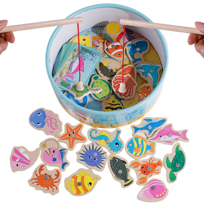幼兒童磁性寶寶釣魚玩具益智力多功能動腦1一2-3周歲半男女孩小孩