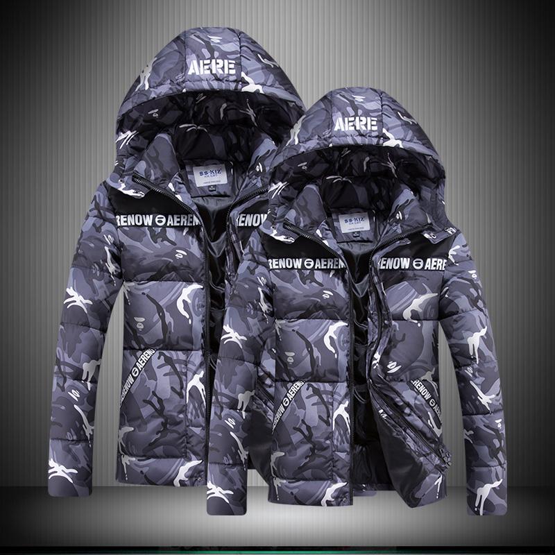 新款保暖冬装男女迷彩棉衣外套男士加肥加大码情侣羽绒棉服韩版潮