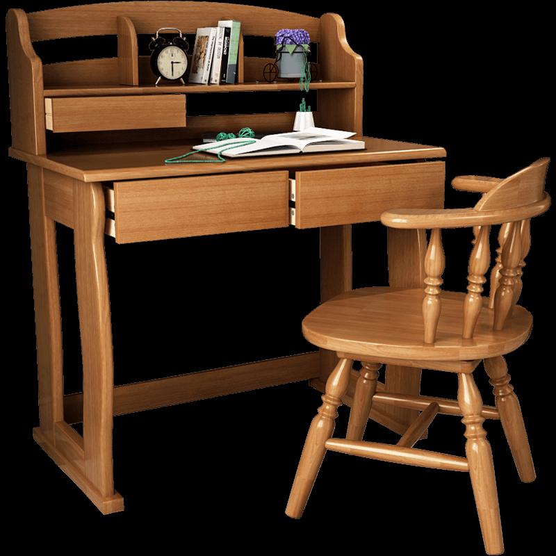 安玛莉 全实木儿童学习桌写字桌 小孩学生课桌椅套装家用小书桌台