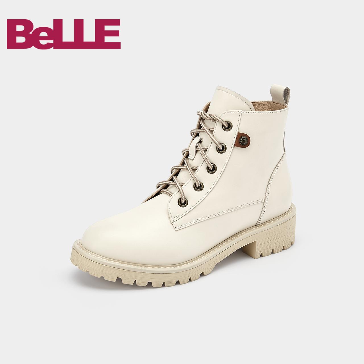 BZTB5DD9 冬新商场同款侧拉链短靴 2019 百丽马丁靴女英伦风 预售