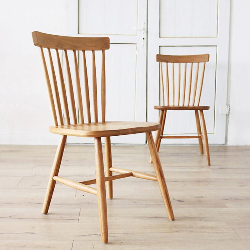 北歐風格溫莎椅白橡木全實木餐椅出口簡約現代設計師椅子餐廳傢俱
