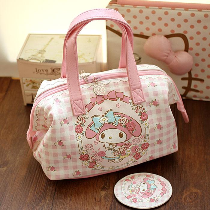 超萌 可愛兔子美樂蒂 手拎化妝包 收納包 小拎包粉色