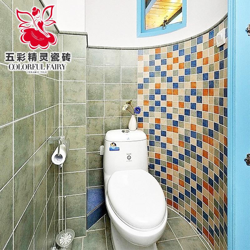 五彩精灵马赛克瓷砖墙贴电视背景墙卫生间墙砖仿古砖个性化定做
