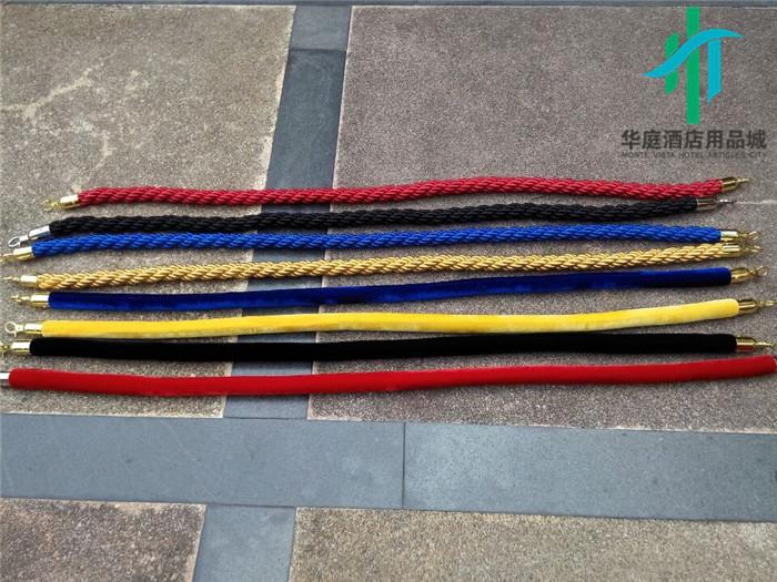 量大优惠绳子栏杆挂绳绒绳麻绳礼宾杆绳1.5米2米1米护栏警戒隔离