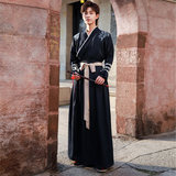 Gu Yue Han Chinese clothing men's archaic style martial arts student class service improvements scholar handsome knight costume Chinese wind