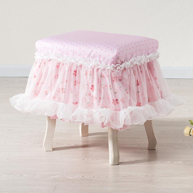 巧致生活 凳子套布艺凳套凳罩化妆凳套 钢琴凳罩可定做多款可选