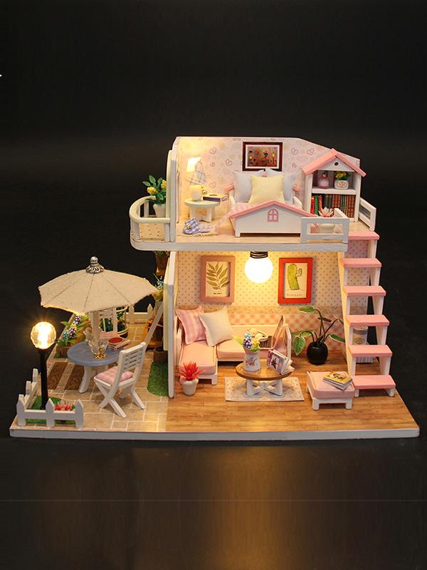 公主娃娃屋木质儿童女童小孩生日礼物5 6-7-8-9-10玩具过家家14岁