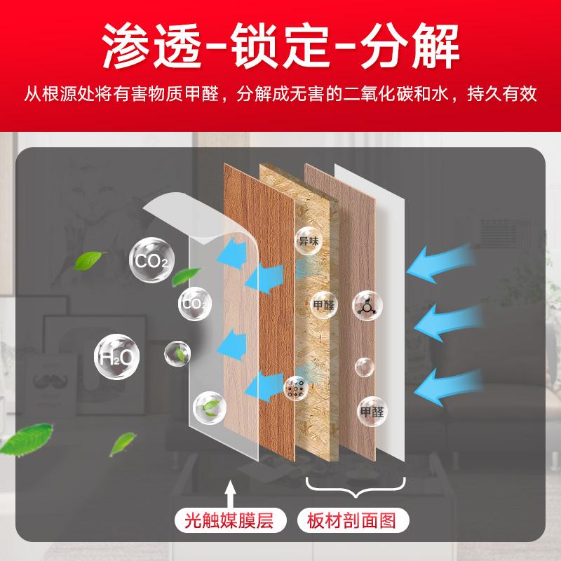 浙大冰虫光触媒甲醛清除剂家用去除甲醛新房家具除味强力型喷雾剂