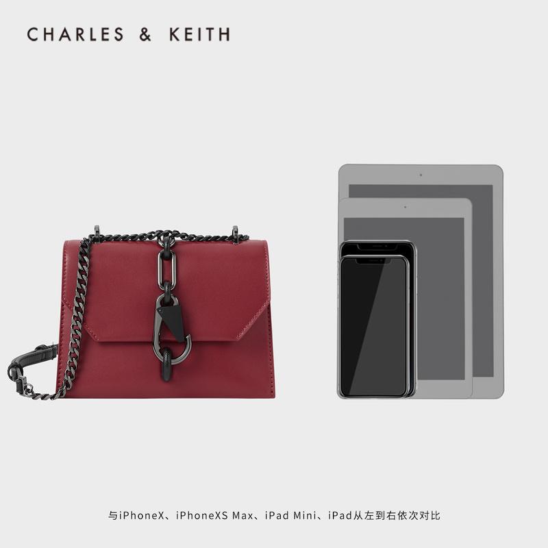 女士时尚锁扣饰链条单肩包 80781300 CK2 磨砂黑锁扣 KEITH & CHARLES