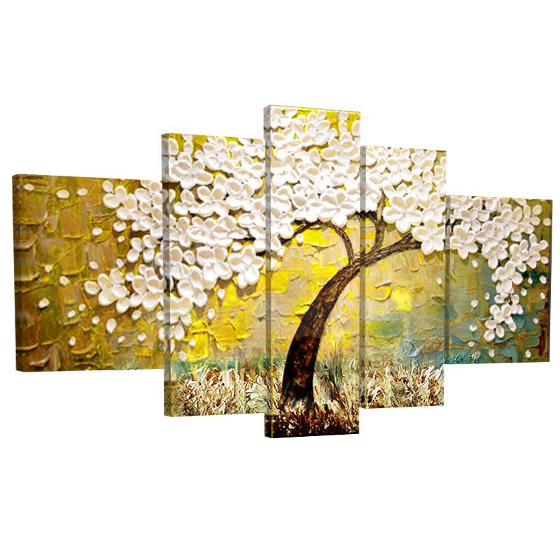 特价手绘手工发财树油画客厅装饰画餐厅现代抽象立体挂画免钉花女