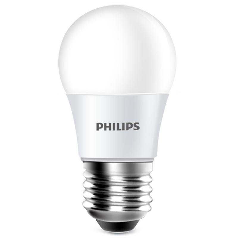 飞利浦led灯泡e14e27螺口小球泡3w5w节能灯泡螺旋家用超亮照明灯