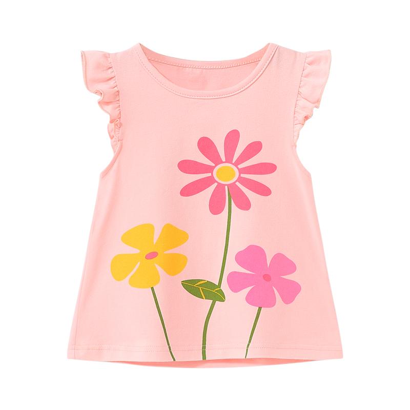 女童短袖1一3岁半童装儿童T恤婴儿上衣洋气夏小童夏季2女宝宝夏装