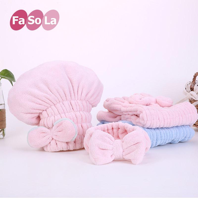 FaSoLa超强吸水干发帽珊瑚绒加厚女款长发浴帽日本可爱成人包头巾