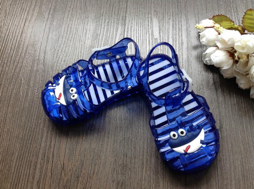 2016夏季男女宝宝儿童果冻凉鞋包头可爱透明罗马风防滑软底凉鞋