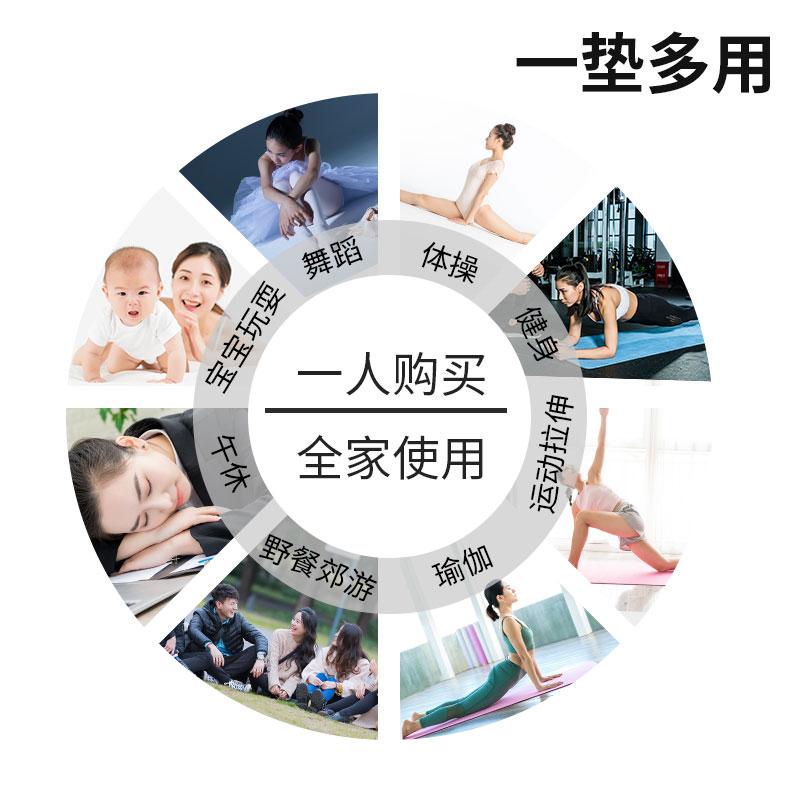 舞蹈垫子儿童练功垫防滑加厚仰卧起坐垫子男士家用健身训练体操垫
