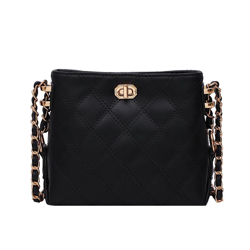 女包限定洋气时尚斜挎菱格链条包 ck 新款小 2019 法国小众高级感包包