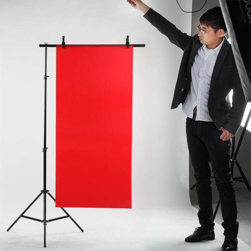 PVC拍照背景布拍摄主播摄影棚背景板 纸支架T型架 证件照淘宝道具网红拍照道具摄影道具背景架摄影架背景布架