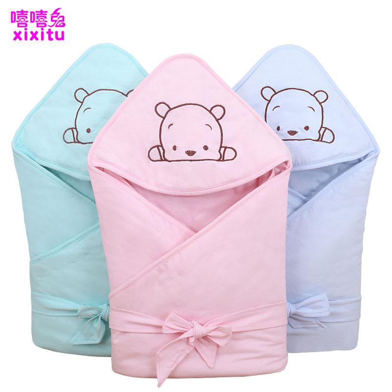 新生儿包被纯棉初生婴儿抱被春秋冬加厚抱毯夏季薄款被子宝宝用品